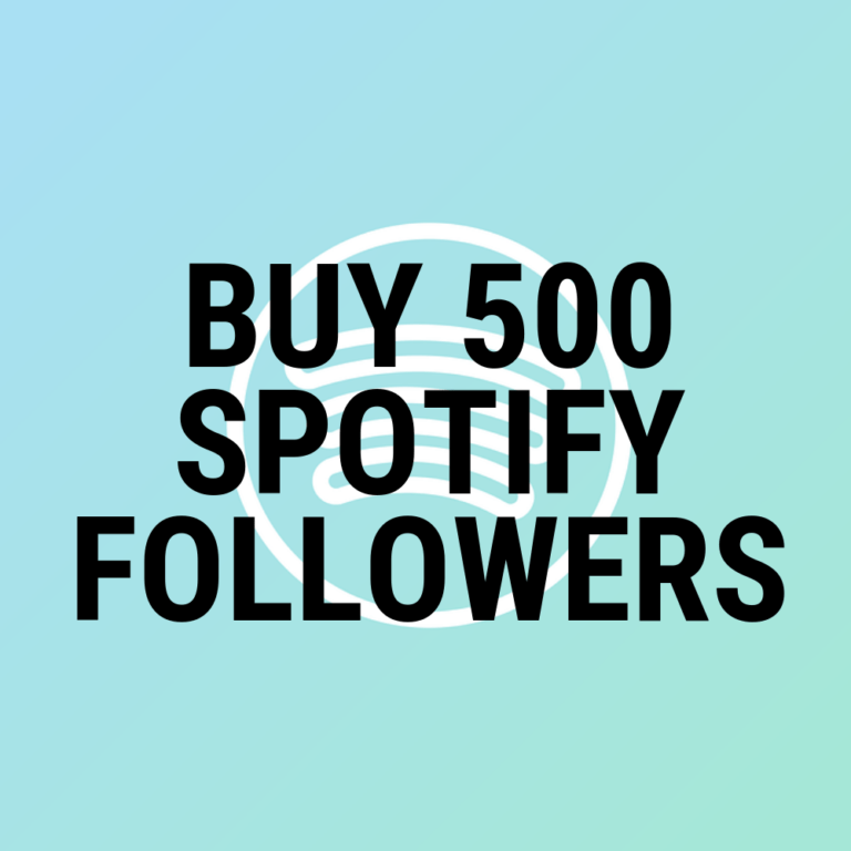 buy 500 spotify followers