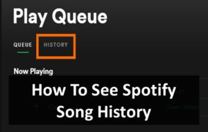 search history on spotify