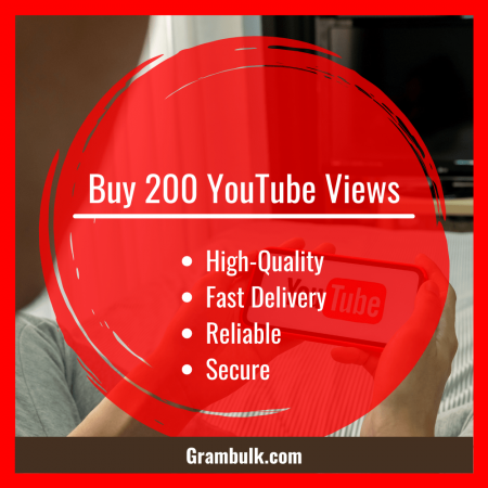 Buy 200 YouTube Views