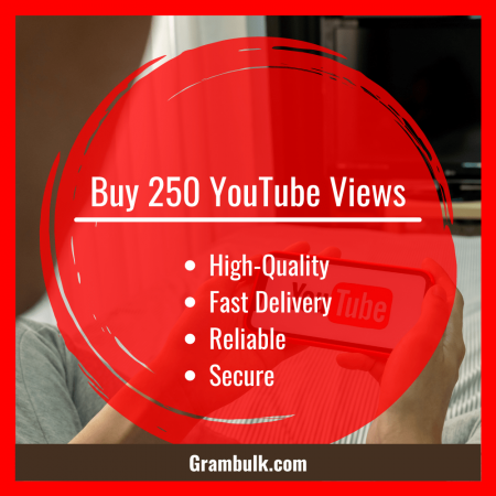 Buy 250 YouTube Views