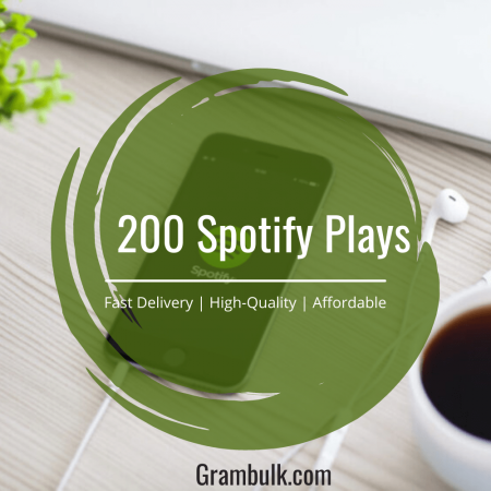 Buy 200 Spotify Plays at cheap price