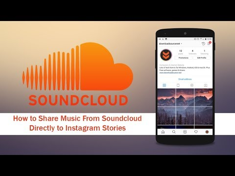 share soundcloud music on instagram