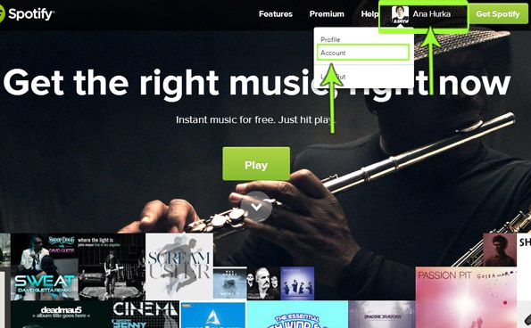 Login to your Spotify account