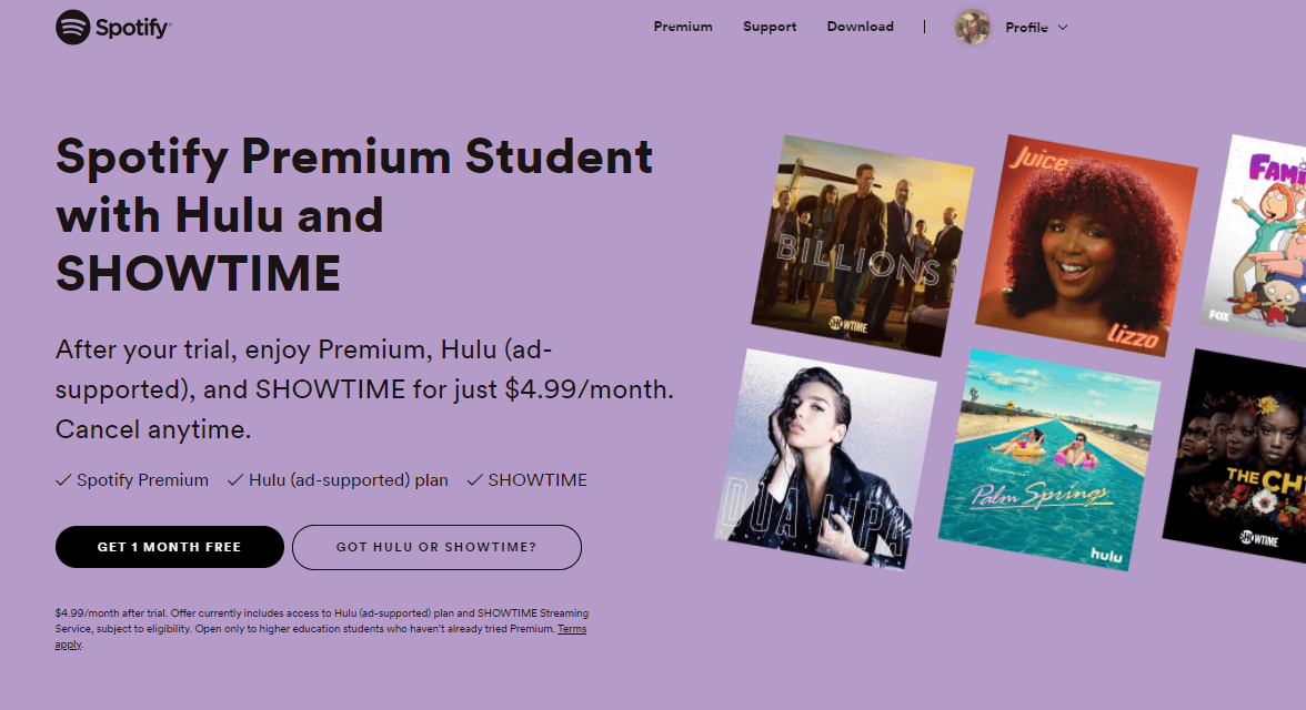 Spotify Student Package