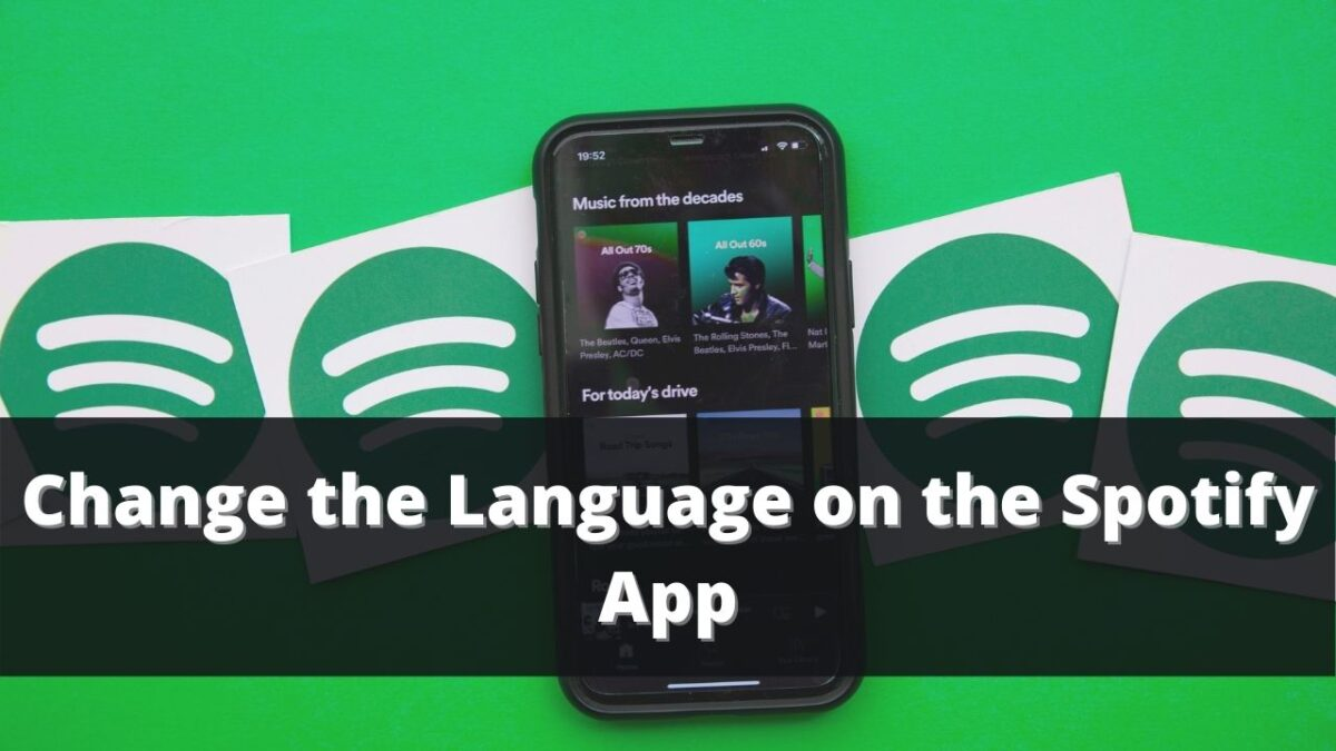 How to change the language on the Spotify app?