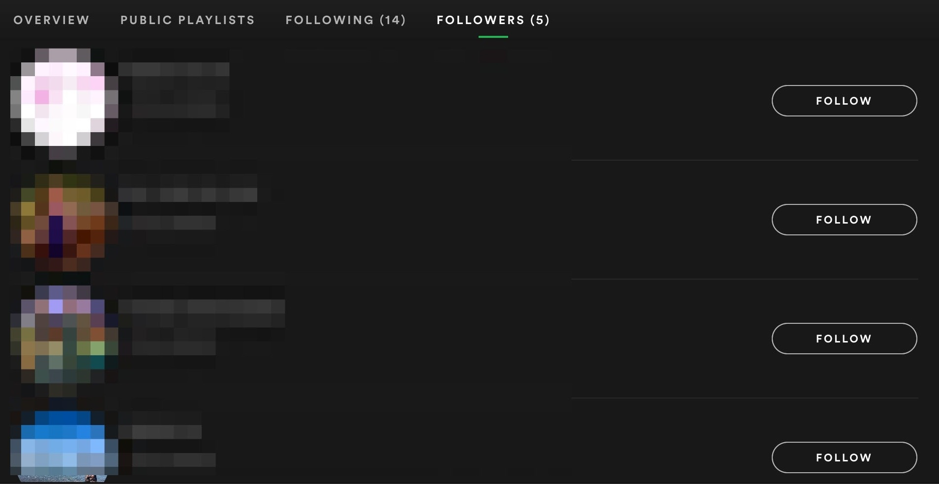 list of your spotify followers
