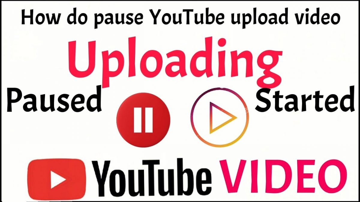 How can you pause a YouTube upload